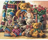 Dimensions Gold Counted Cross Stitch Kit - Teddy Bear Gathering