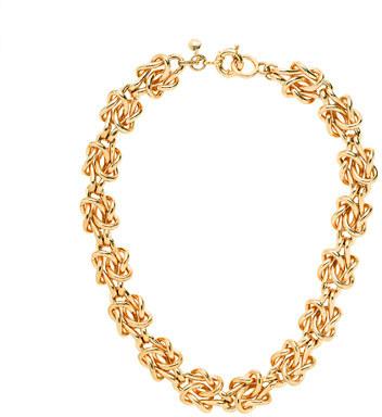 J.Crew Golden knot necklace