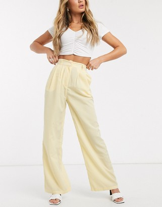 Ivyrevel high waisted wide leg trousers in yellow stripe