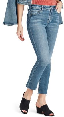 Sam Edelman The Kitten Raw Hem Straight Leg Jeans