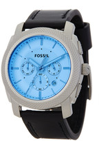 Fossil Men&s Machine Chronograph Leather Strap Watch