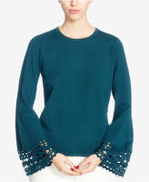 Catherine Malandrino Cutout Bell-Sleeve Sweater