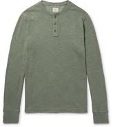 Faherty Slub Cotton Henley T-shirt - Sage green