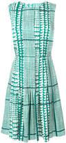 Oscar de la Renta tiered belted dress