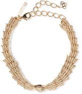 Oscar de la Renta Wistera gold-tone crystal necklace