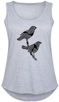Instant Message Plus Women's Tank Tops ATHLETIC - Athletic Heather Henna Birds Tank - Plus
