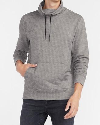 Express Cozy Herringbone Funnel Neck Sweatshirt
