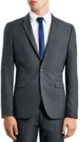 Topman Skinny Fit Grey Suit Jacket