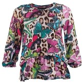 Roberto Cavalli Butterfly And Leopard Print Blouse