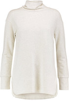 Monrow Slub Cotton-Blend Turtleneck Top