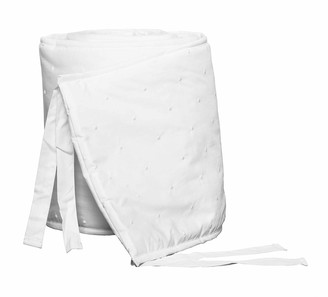 Bovi Fine Linens Amparo Crib Bumper, White