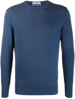 Fedeli Long-Sleeve Cotton Jumper