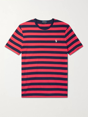 Polo Ralph Lauren Slim-Fit Logo-Embroidered Striped Cotton-Jersey T-Shirt