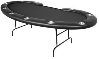 """100"""" L Prestige Poker Table BBO Poker Color: Black"""
