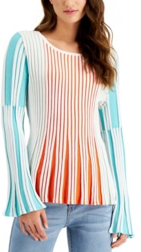 Fever Striped Peplum Sweater