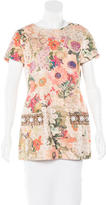 Tory Burch Embellished Floral Print Tunic