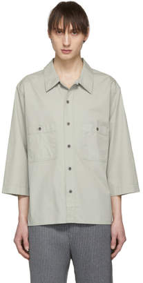 Lemaire Grey Military Three-Quarter Sleeve Shirt