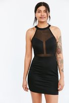 Silence & Noise Silence + Noise Sweetheart Mesh Mini Dress