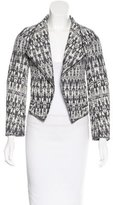Derek Lam 10 Crosby Tweed Open Back Jacket