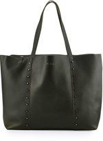 Furla Elle Rock Medium Leather Tote Bag, Onyx