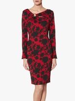 Gina Bacconi Rashida Ring Trim Dress, Red