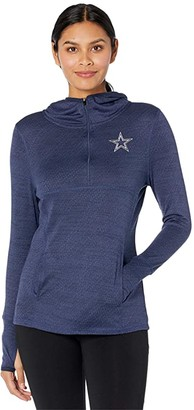 Dallas Cowboys Dallas Cowboys Cara Full Zip Jacket (Navy) Women's Clothing