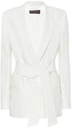 Loro Piana Clare belted linen blazer