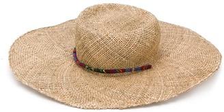 Ruslan Baginskiy Straw Lace Detail Boater Hat