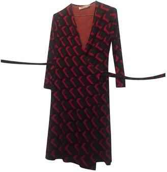 Diane von Furstenberg Burgundy Silk Dresses