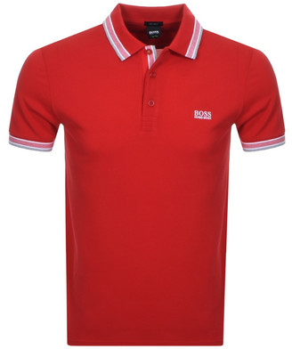 Boss Athleisure BOSS Paddy Polo T Shirt Red