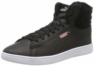 Puma Women's Vikky V2 MID WTR Hi-Top Trainers Black-Bridal Rose White 5 UK 38 EU