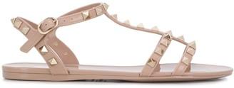 Valentino Rockstud jelly flat sandals