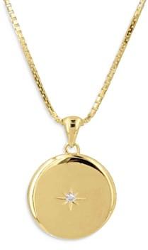 Adina's Jewels Adinas Jewels Cubic Zirconia Locket Necklace, 18