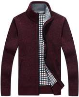 Shengweiao Men's Full Zip Kintted Cardigan Sweaters