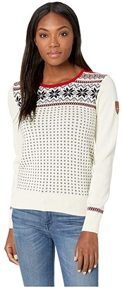 Dale of Norway Garmisch Feminine Sweater (A-Off-White/Navy/Raspberry) Women's Sweater
