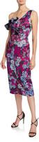 Flor Et. Al flor et.al Ella Floral-Print Asymmetric-Sleeve Cocktail Dress