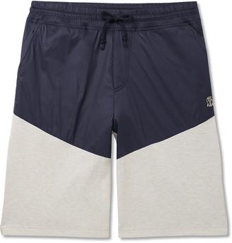 Brunello Cucinelli Colour-Block Nylon And Melange Cotton-Blend Jersey Drawstring Shorts