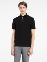 Calvin Klein Platinum Stretch Mercerized Pique Zip Polo Shirt