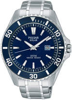 Pulsar Men's Solar Sport Stainless Steel Bracelet Watch 44mm PX3067