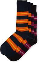 J.M. Dickens Two-Pair Oversize-Stripes Socks