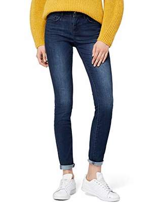 Tom Tailor Women's Alexa denim blue Jeans, Blue (dark blue denim), ( 33)