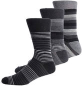 Asstd National Brand Gentle Grip 3-pk. Crew Socks