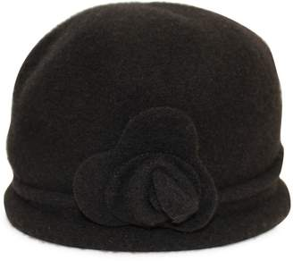 Cloche Parkhurst Flower Wool Hat