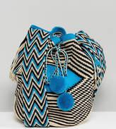 Jardin Del Cielo Wayuu Mochilla Bag In Blue