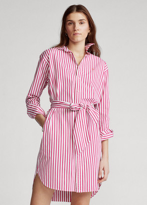Ralph Lauren Striped Belted Shirtdress