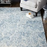 west elm Vines Wool Rug - Blue Lagoon