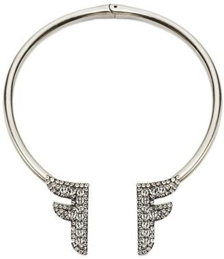 Fendi F motif rigid necklace
