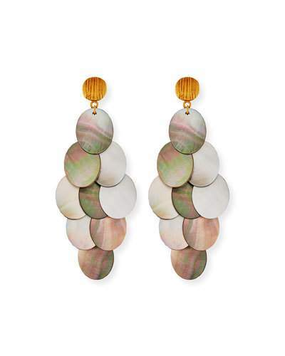 Mother of Pearl NEST Jewelry Mother-of-Pearl Cluster Drop Earrings