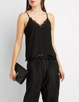 Charlotte Russe Strappy Lace-Trim Camisole Top