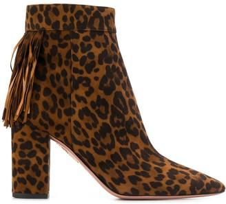 Aquazzura leopard ankle boots